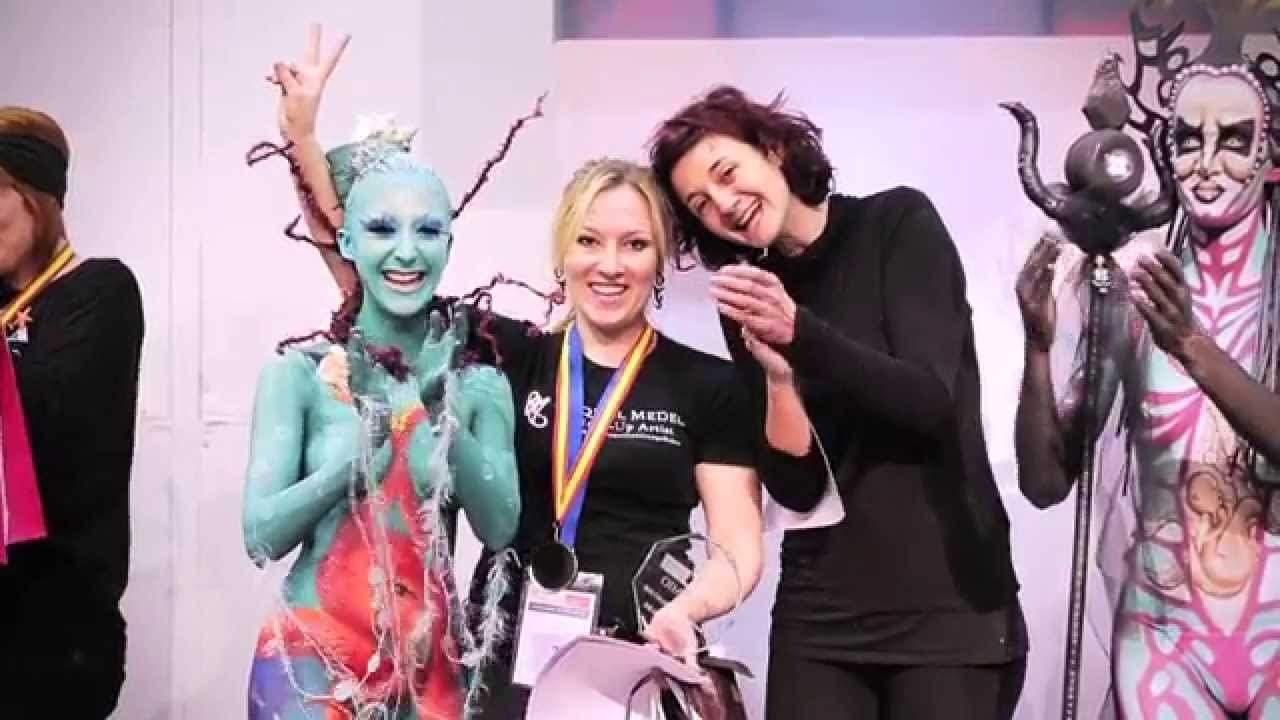 Raquel Medel, representante española de Body Painting en Munich